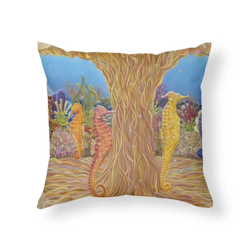 Seahorse Carousel.........Fantasy under the wondrous Sea Home Throw Pillow by realzeal's Artist Shop