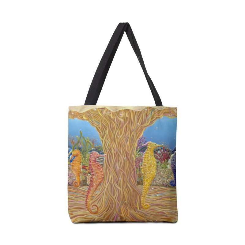Seahorse Carousel.........Fantasy under the wondrous Sea Accessories Tote Bag Bag by RealZeal's Artist Shop