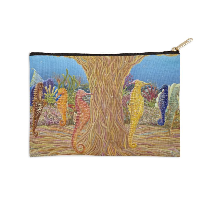 Seahorse Carousel.........Fantasy under the wondrous Sea Accessories Zip Pouch by RealZeal's Artist Shop