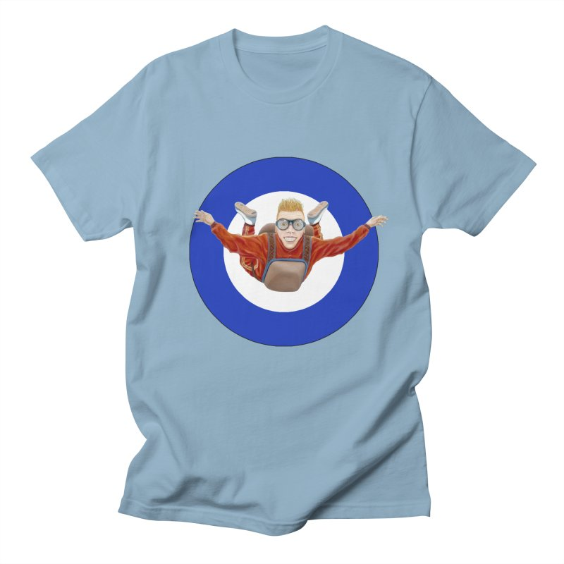 Skydiver (blue) Men's T-Shirt by RealZeal's Artist Shop