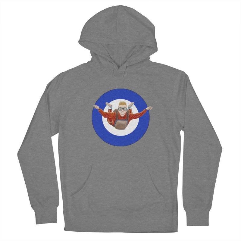 Skydiver (blue) Women's Pullover Hoody by RealZeal's Artist Shop