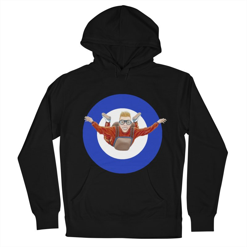 Skydiver (blue) Men's Pullover Hoody by RealZeal's Artist Shop