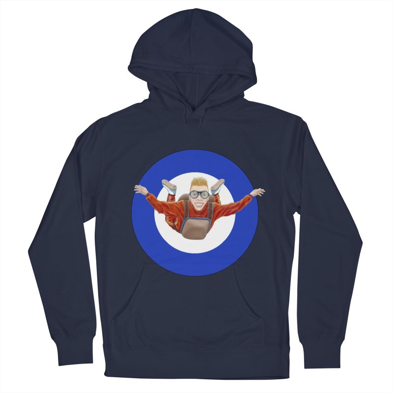 Skydiver (blue) Men's French Terry Pullover Hoody by RealZeal's Artist Shop