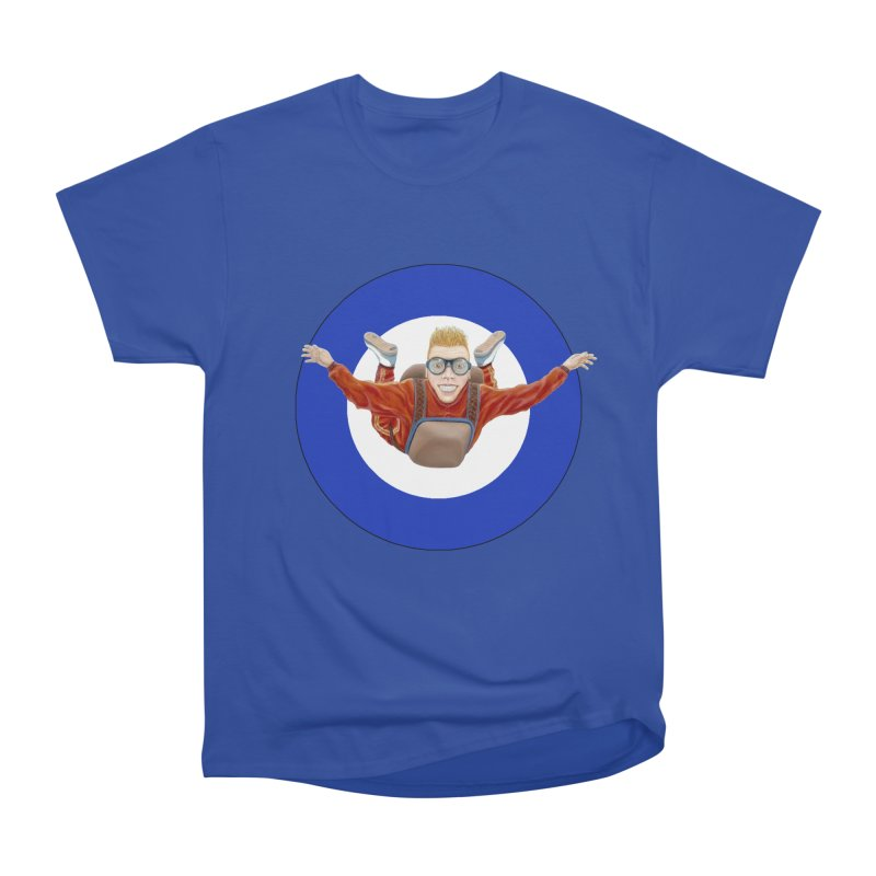 Skydiver (blue) Men's Classic T-Shirt by realzeal's Artist Shop