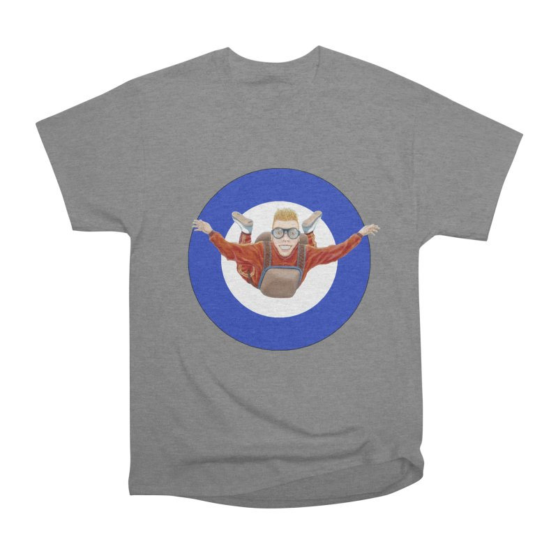 Skydiver (blue) Men's Heavyweight T-Shirt by RealZeal's Artist Shop