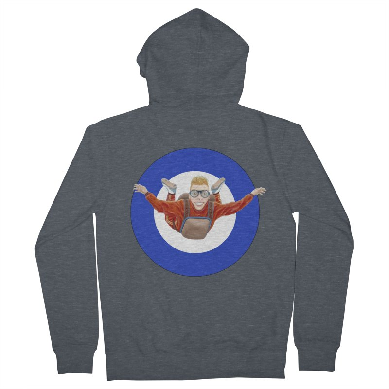 Skydiver (blue) Women's French Terry Zip-Up Hoody by RealZeal's Artist Shop