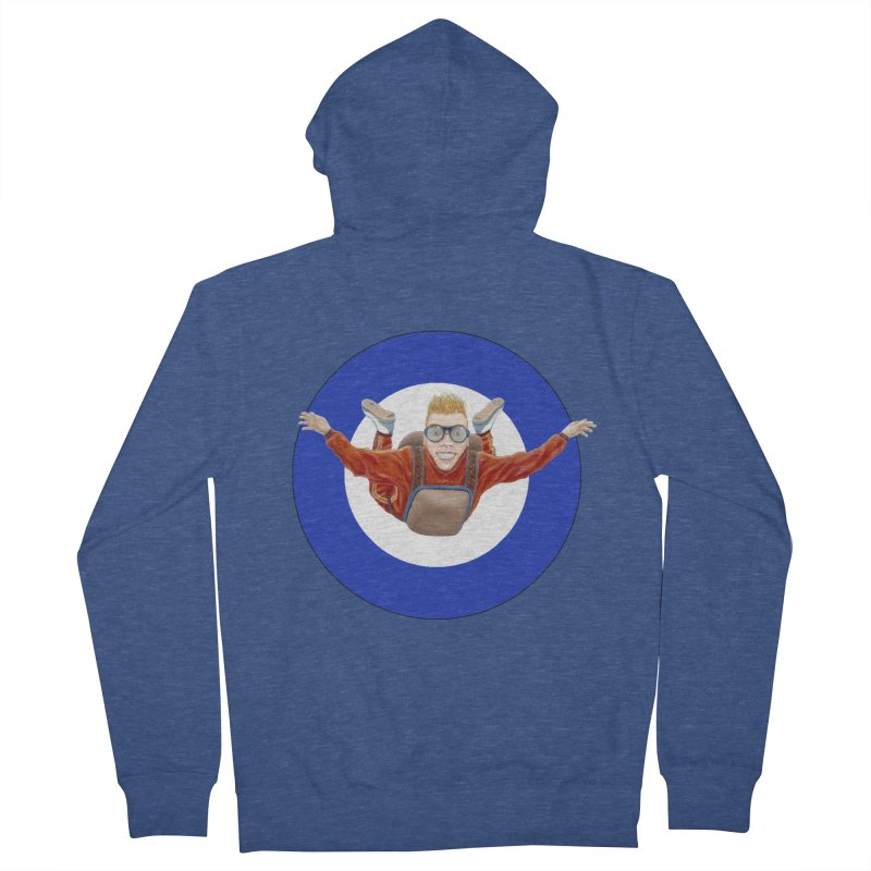 Skydiver (blue) Men's French Terry Zip-Up Hoody by RealZeal's Artist Shop
