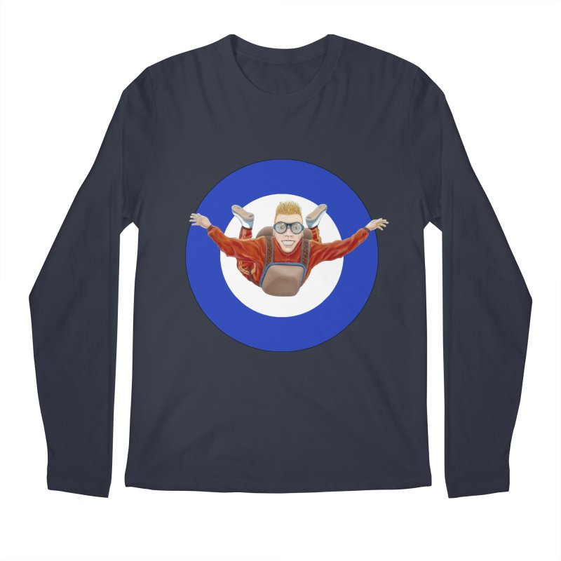 Skydiver (blue) Men's Longsleeve T-Shirt by realzeal's Artist Shop