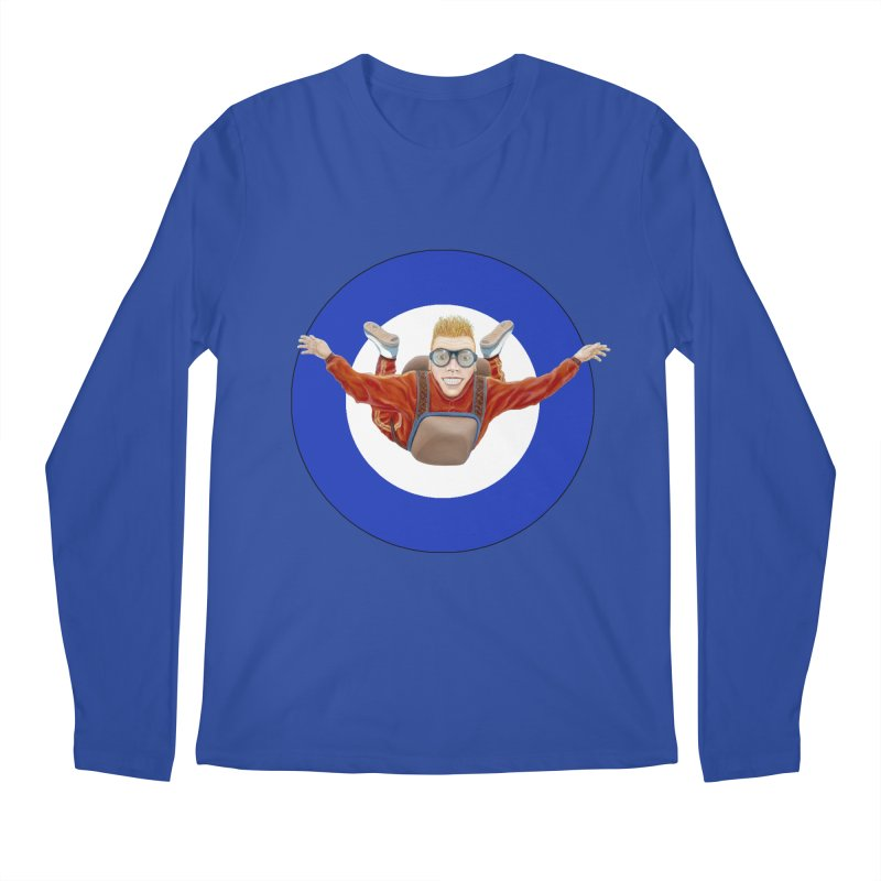 Skydiver (blue) Men's Regular Longsleeve T-Shirt by RealZeal's Artist Shop