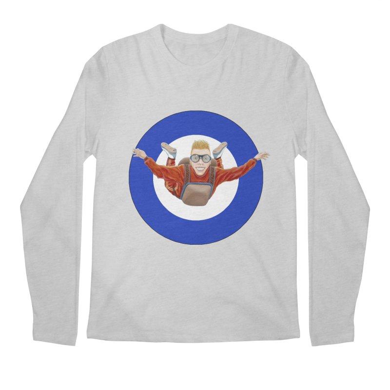 Skydiver (blue) Men's Regular Longsleeve T-Shirt by RealZeal's Artist Shop