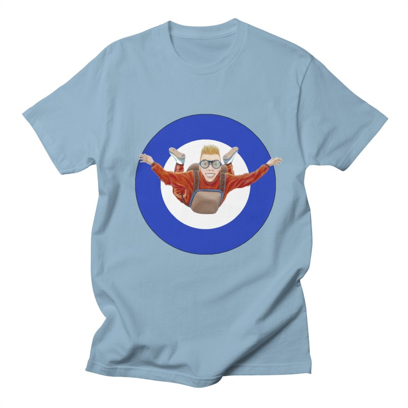 Skydiver (blue) Women's Unisex T-Shirt by RealZeal's Artist Shop
