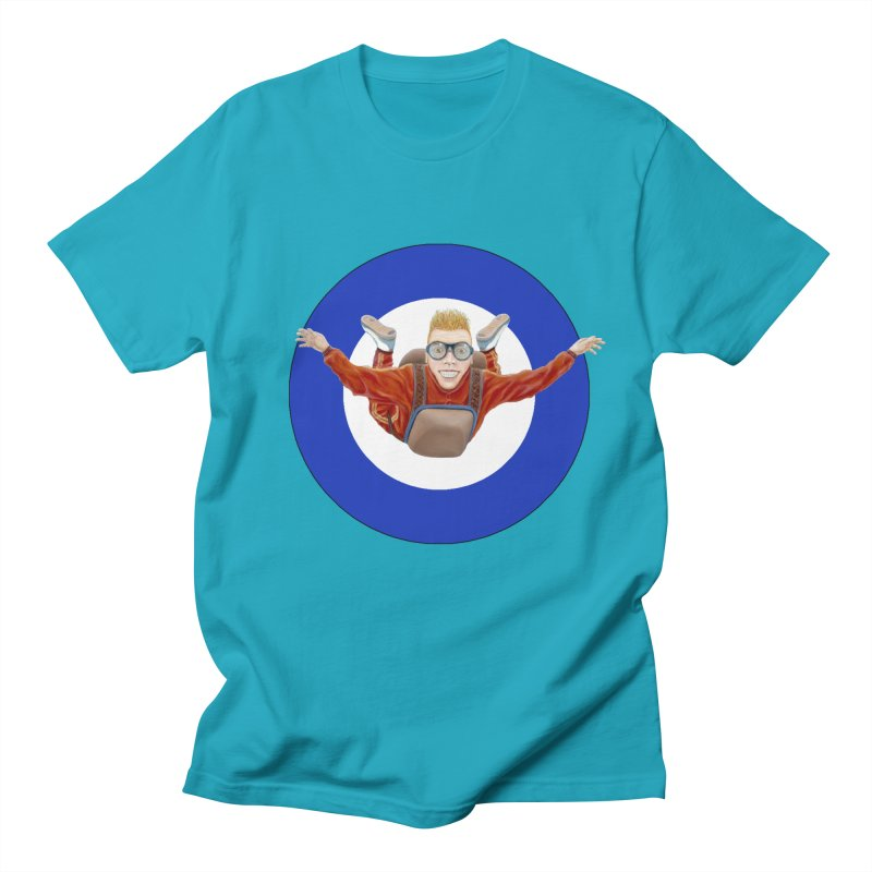 Skydiver (blue) Women's Regular Unisex T-Shirt by RealZeal's Artist Shop