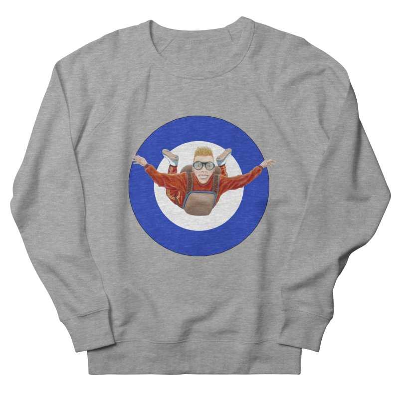 Skydiver (blue) Women's French Terry Sweatshirt by RealZeal's Artist Shop