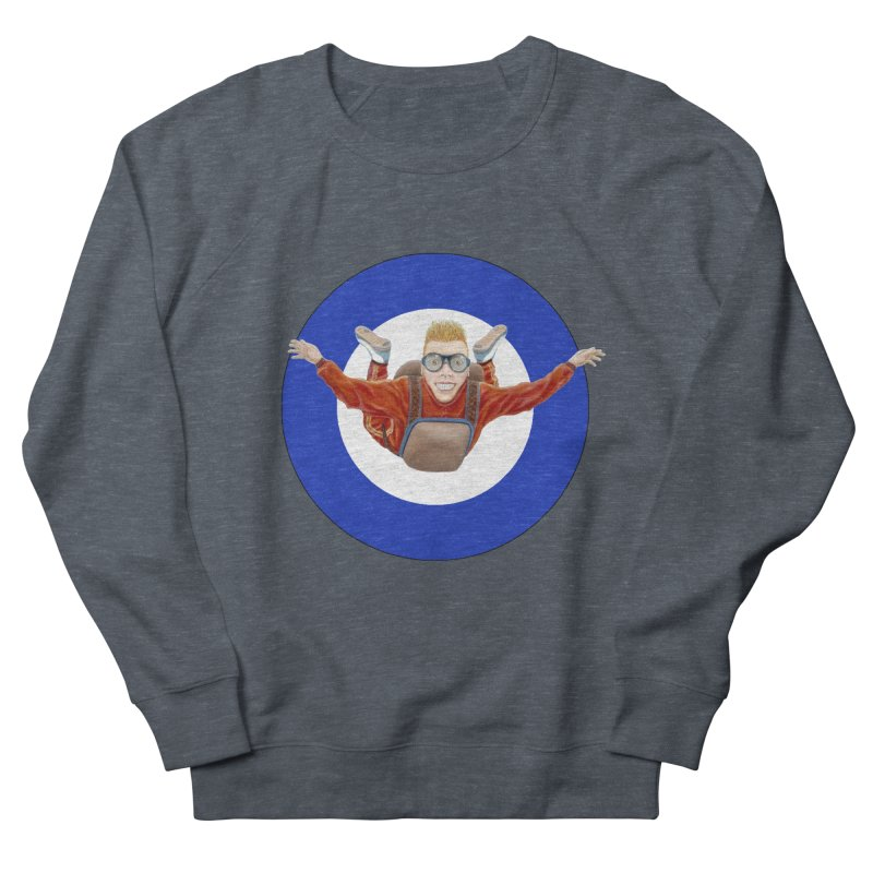 Skydiver (blue) Men's French Terry Sweatshirt by RealZeal's Artist Shop