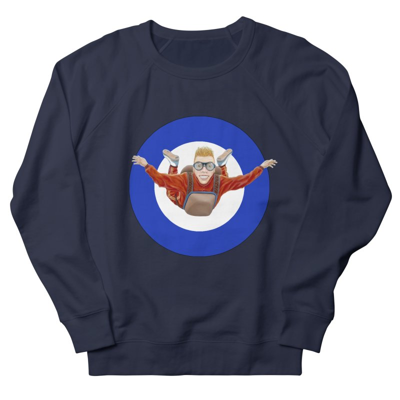 Skydiver (blue) Men's Sweatshirt by RealZeal's Artist Shop