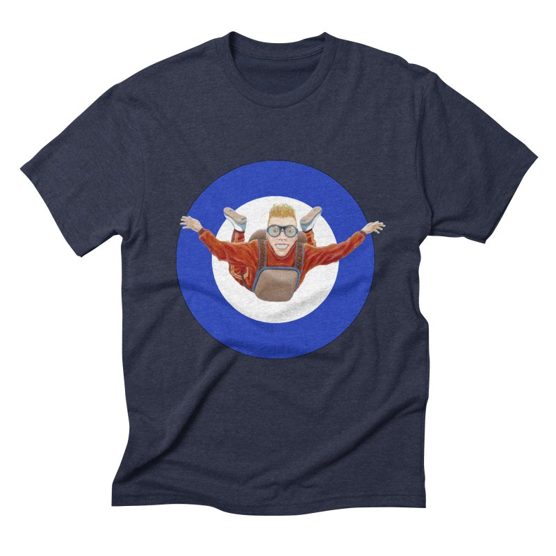 Skydiver (blue) Men's Triblend T-Shirt by RealZeal's Artist Shop