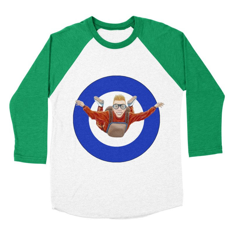 Skydiver (blue) Women's Baseball Triblend T-Shirt by realzeal's Artist Shop