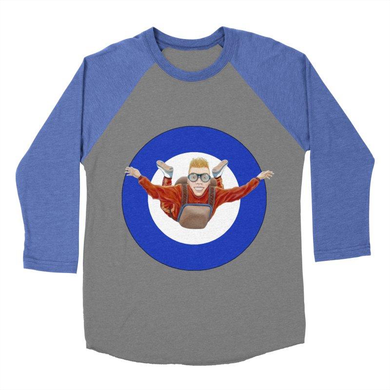 Skydiver (blue) Women's Baseball Triblend Longsleeve T-Shirt by RealZeal's Artist Shop