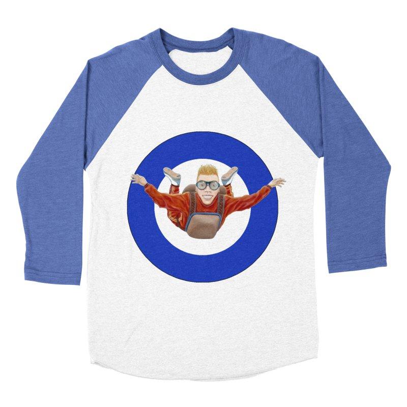 Skydiver (blue) Men's Baseball Triblend T-Shirt by RealZeal's Artist Shop