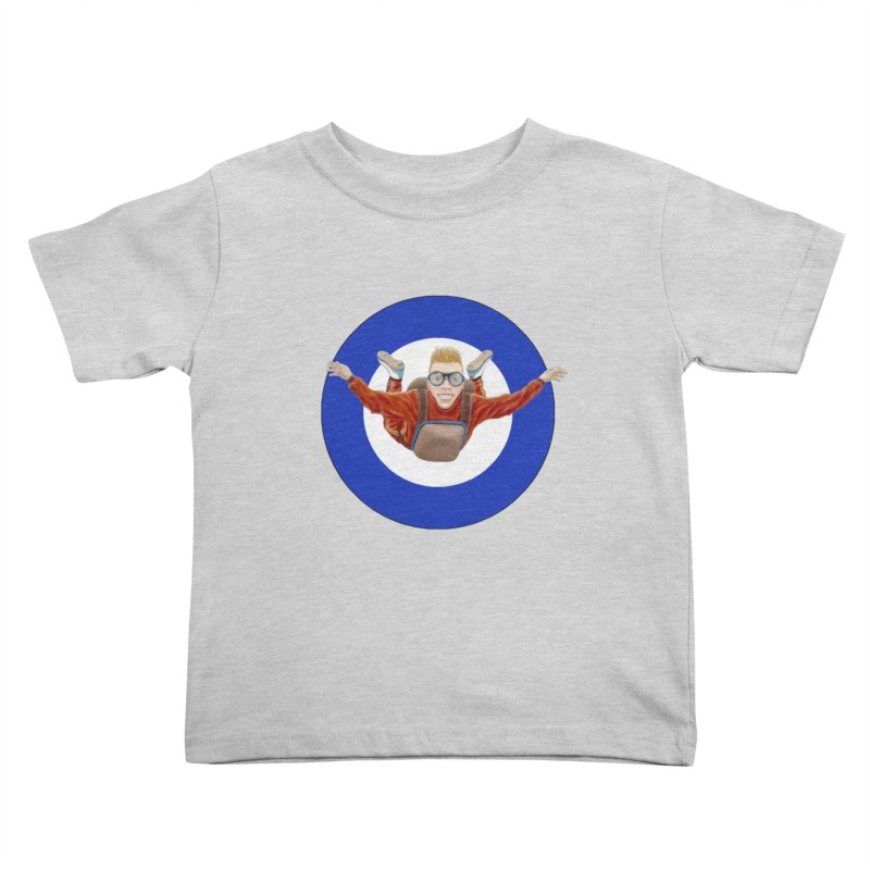 Skydiver (blue) Kids Toddler T-Shirt by RealZeal's Artist Shop