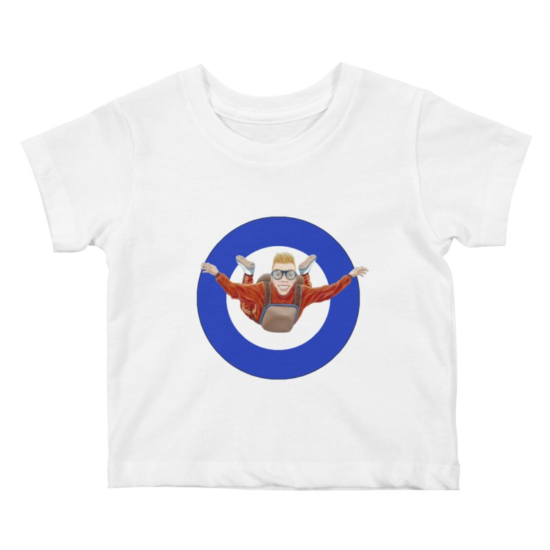 Skydiver (blue) Kids Baby T-Shirt by RealZeal's Artist Shop