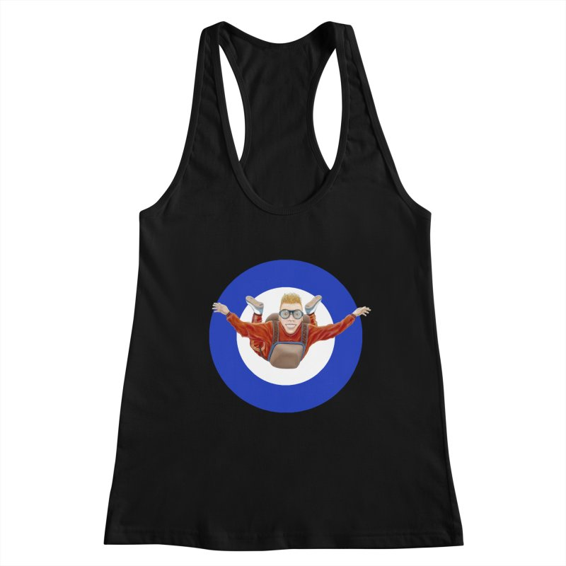 Skydiver (blue) Women's Tank by RealZeal's Artist Shop
