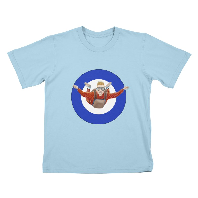 Skydiver (blue) Kids T-shirt by realzeal's Artist Shop