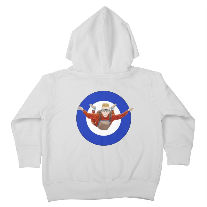 Skydiver (blue) Kids Toddler Zip-Up Hoody by RealZeal's Artist Shop