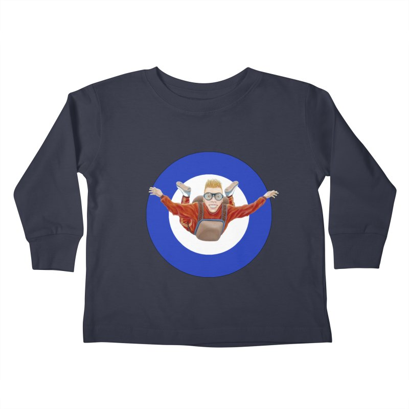 Skydiver (blue) Kids Toddler Longsleeve T-Shirt by RealZeal's Artist Shop