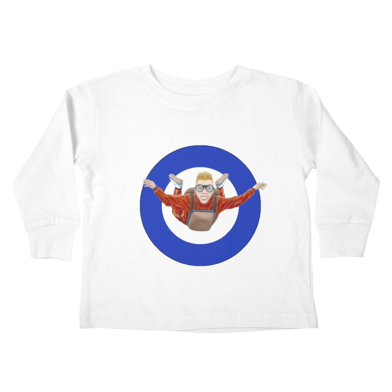 Skydiver (blue) Kids Toddler Longsleeve T-Shirt by RealZeal's Artist Shop