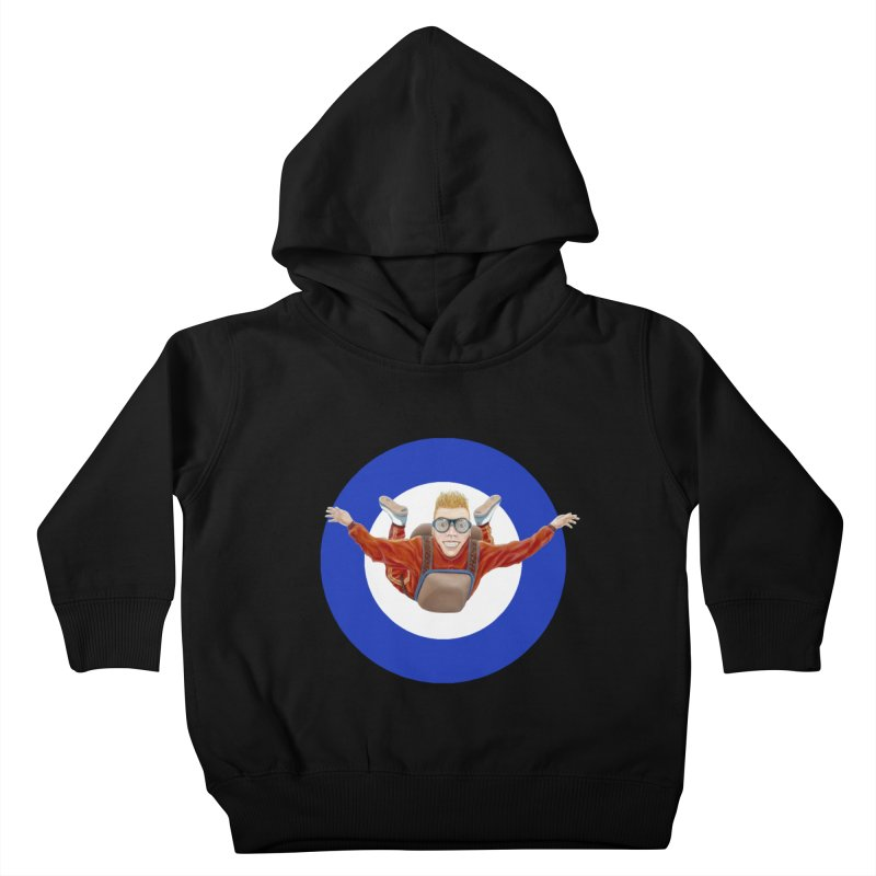 Skydiver (blue) Kids Toddler Pullover Hoody by RealZeal's Artist Shop