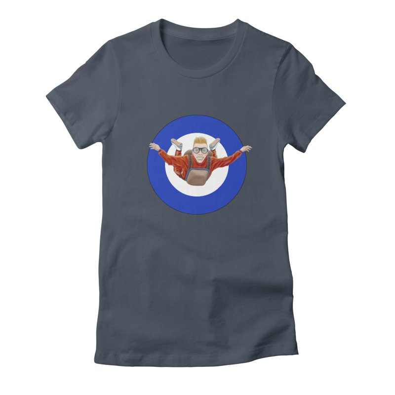 Skydiver (blue) Women's T-Shirt by RealZeal's Artist Shop