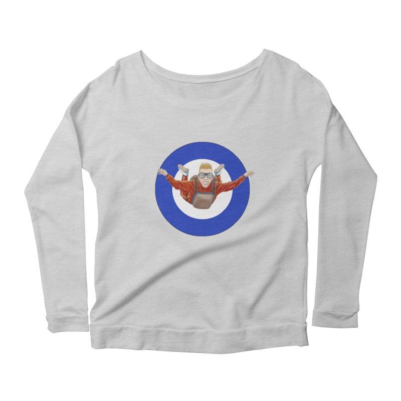 Skydiver (blue) Women's Scoop Neck Longsleeve T-Shirt by RealZeal's Artist Shop