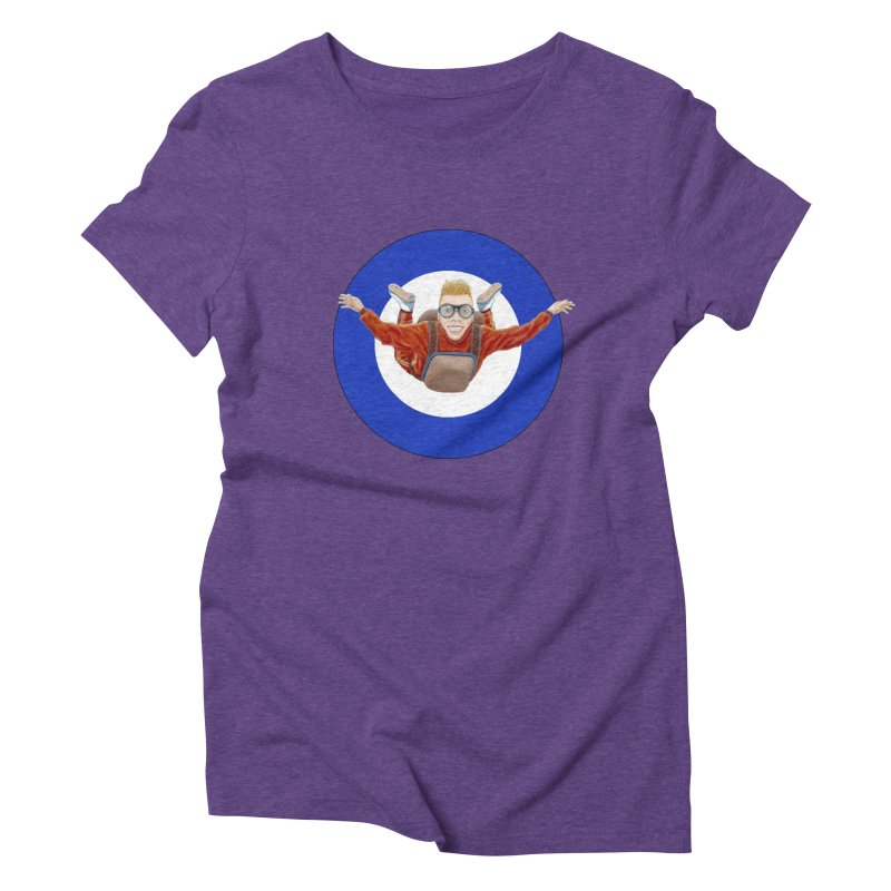 Skydiver (blue) Women's Triblend T-Shirt by RealZeal's Artist Shop