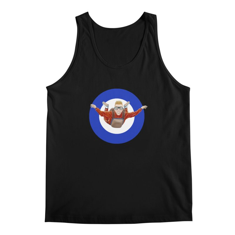 Skydiver (blue) Men's Tank by RealZeal's Artist Shop