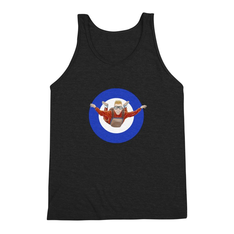 Skydiver (blue) Men's Triblend Tank by RealZeal's Artist Shop
