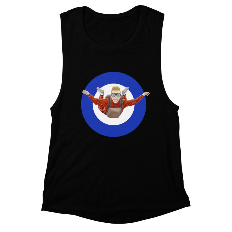 Skydiver (blue) Women's Muscle Tank by RealZeal's Artist Shop