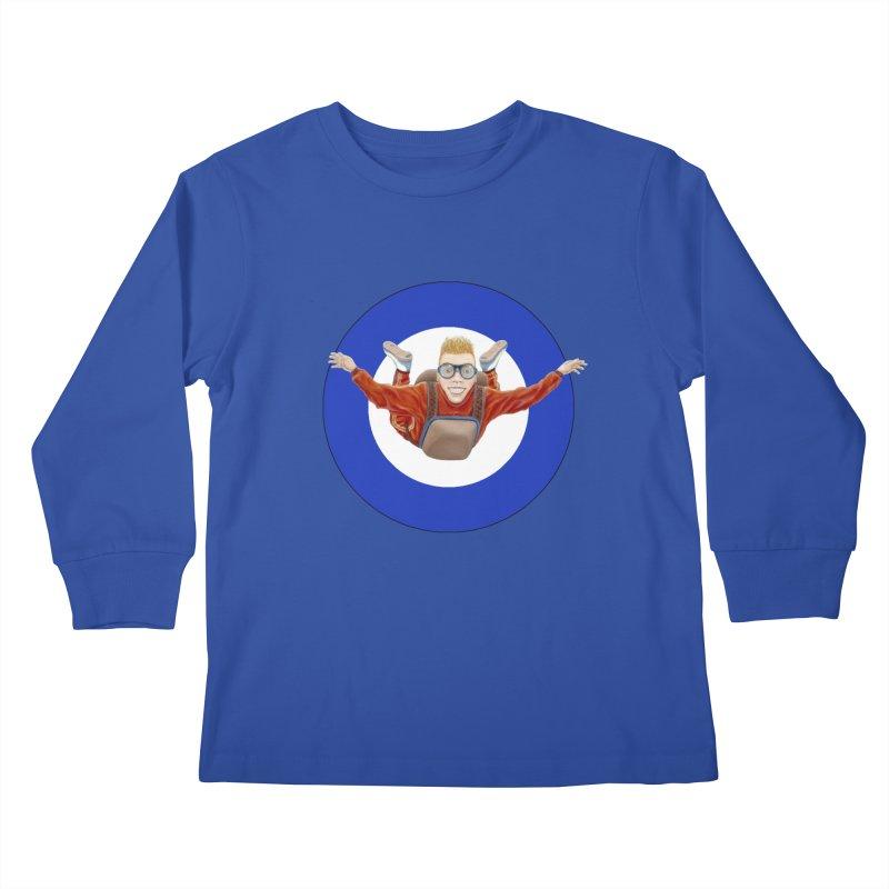 Skydiver (blue) Kids Longsleeve T-Shirt by RealZeal's Artist Shop