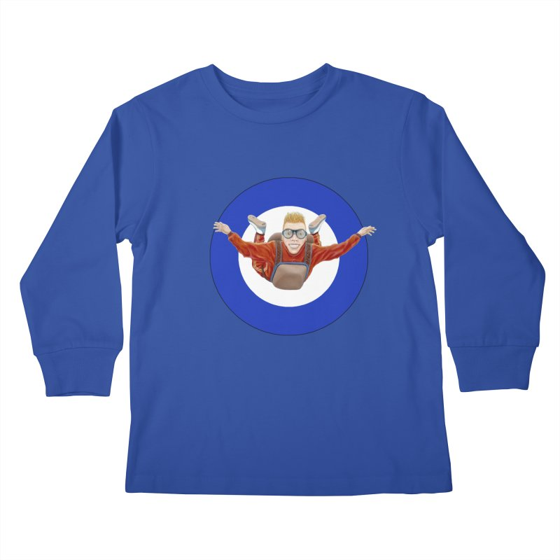 Skydiver (blue) Kids  by RealZeal's Artist Shop