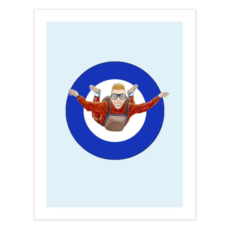 Skydiver (blue) Home Fine Art Print by RealZeal's Artist Shop