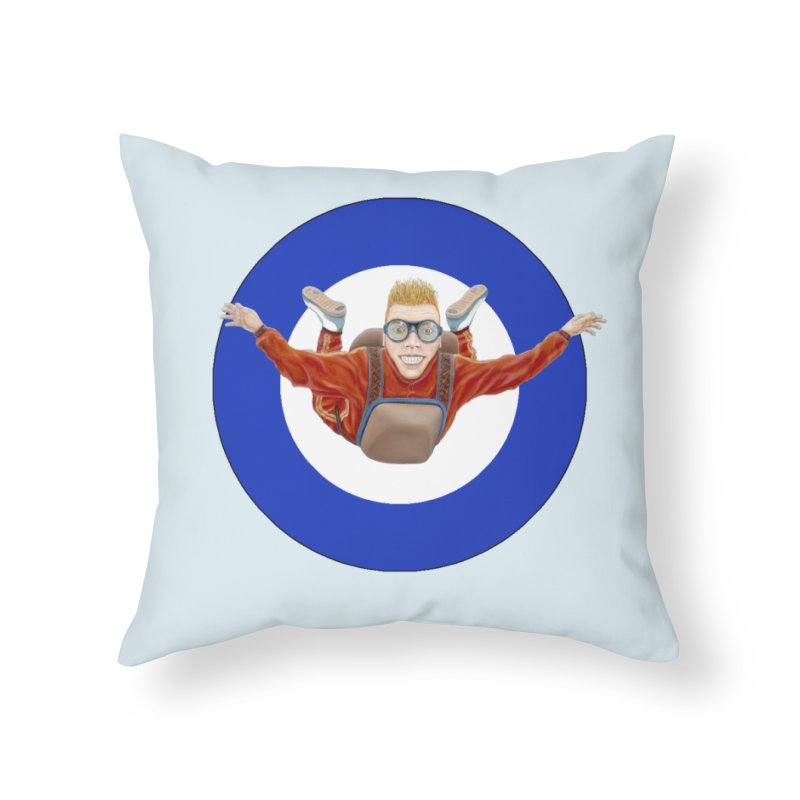 Skydiver (blue) Home Throw Pillow by RealZeal's Artist Shop