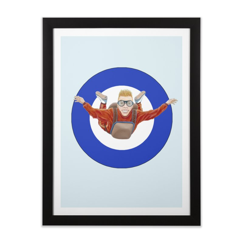 Skydiver (blue) Home Framed Fine Art Print by RealZeal's Artist Shop