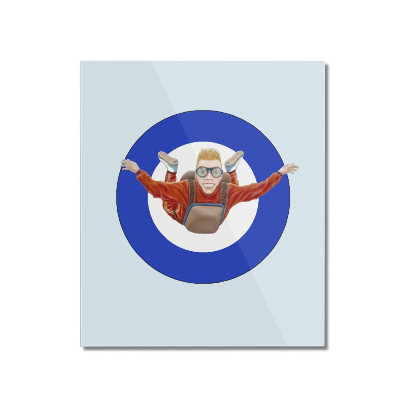Skydiver (blue) Home Mounted Acrylic Print by RealZeal's Artist Shop