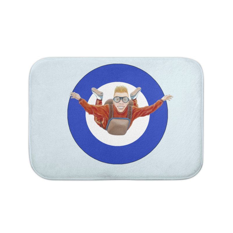 Skydiver (blue) Home Bath Mat by RealZeal's Artist Shop