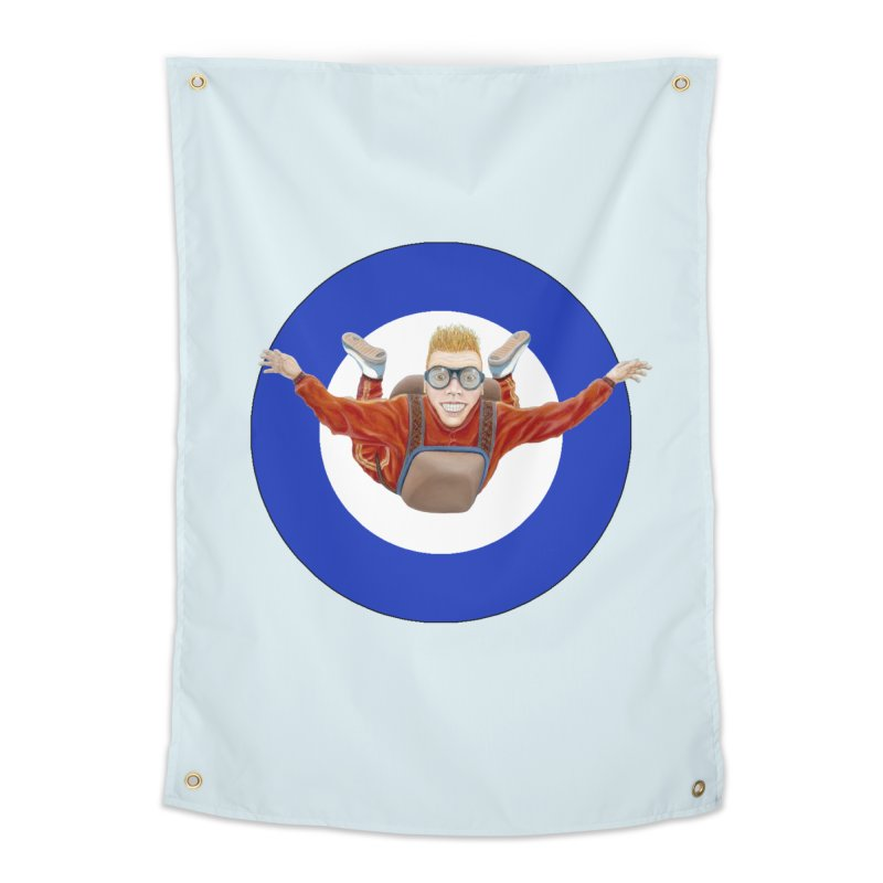 Skydiver (blue) Home Tapestry by RealZeal's Artist Shop