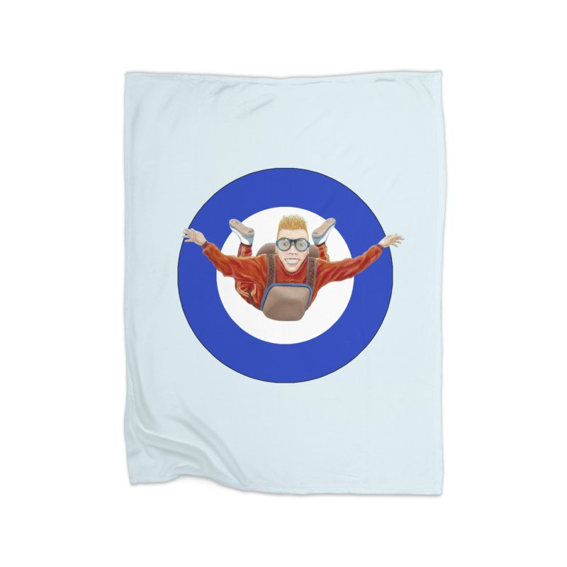 Skydiver (blue) Home Fleece Blanket Blanket by RealZeal's Artist Shop