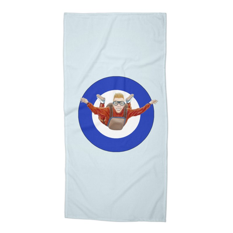 Skydiver (blue) Accessories Beach Towel by RealZeal's Artist Shop