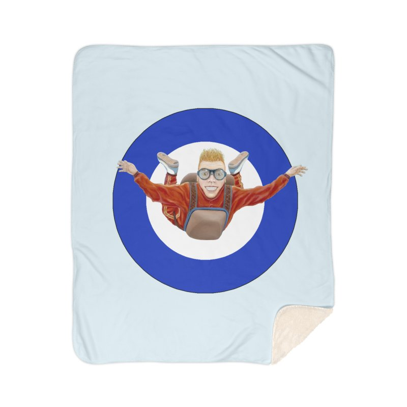 Skydiver (blue) Home Sherpa Blanket Blanket by RealZeal's Artist Shop