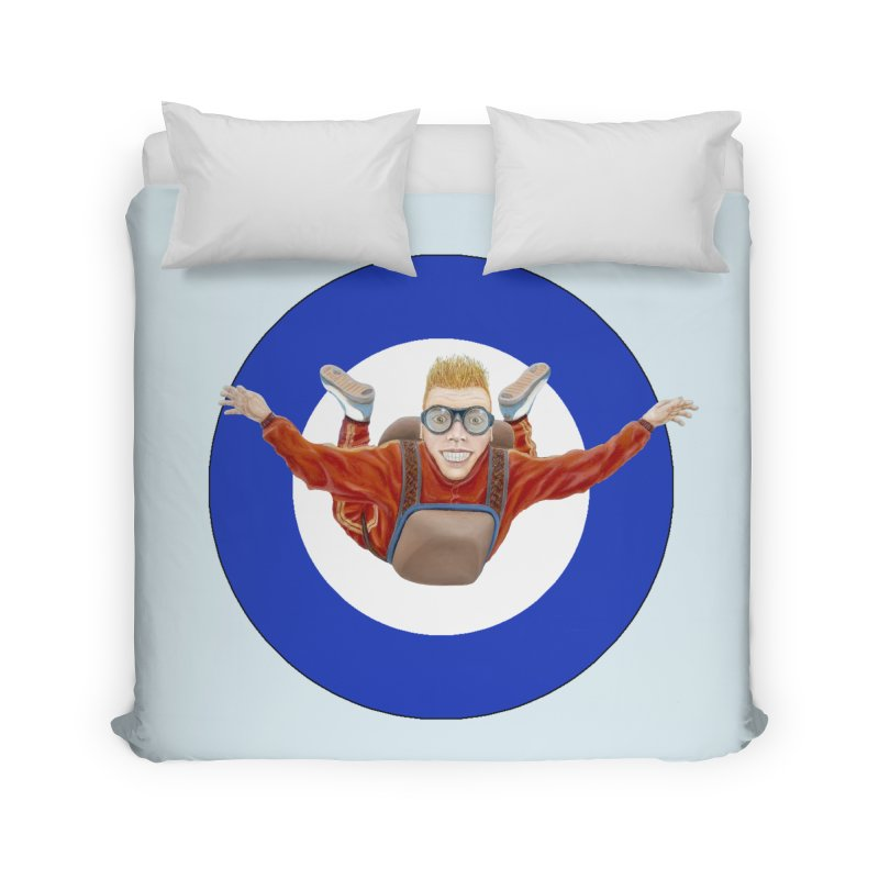 Skydiver (blue) Home Duvet by RealZeal's Artist Shop