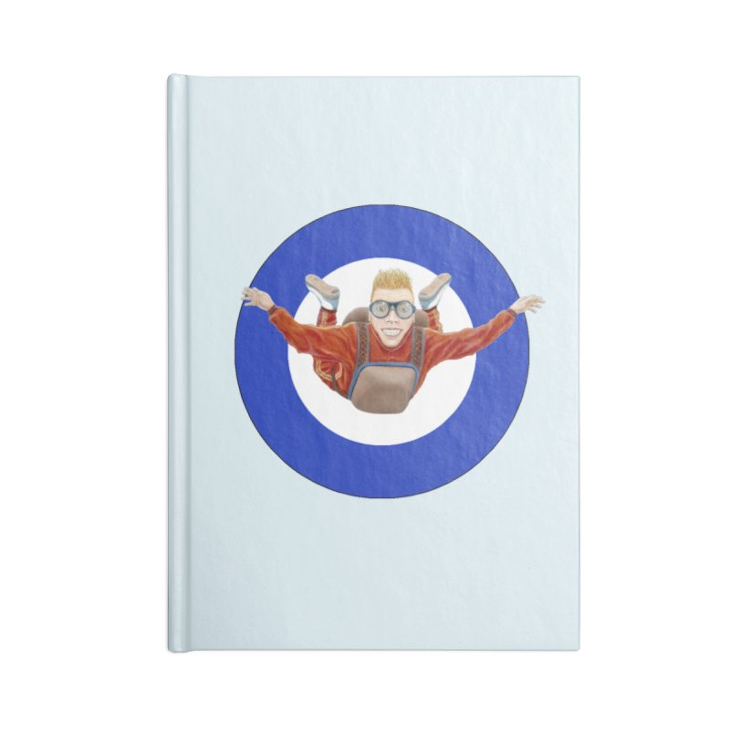 Skydiver (blue) Accessories Lined Journal Notebook by RealZeal's Artist Shop